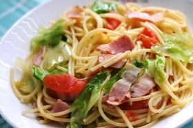 ベーコンレタストマトのスパゲティ