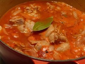 ルクルーゼで作る!チキンのトマト煮