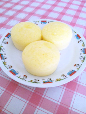 とってもふわふわぁ~♪チーズ蒸しパン