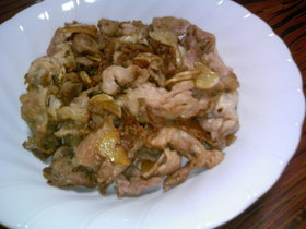 節約レシピ ❀豚こまのガーリック炒め❀