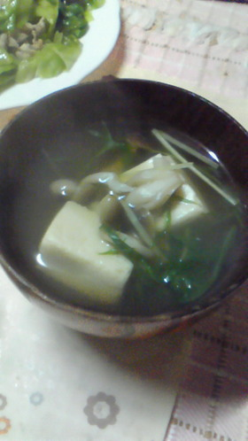 初心者の簡単♪高野豆腐のお吸い物