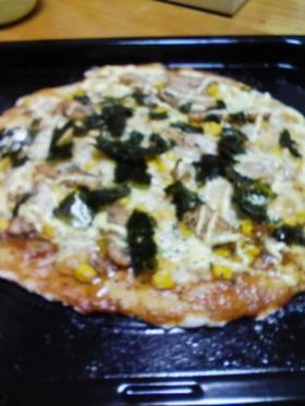 パーティに手作りピザ
