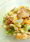 鶏胸肉と春キャベツのマスタードサラダ。