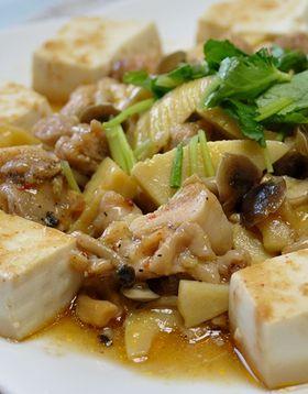 電子レンジで簡単♪たけのこと鶏肉の中華煮
