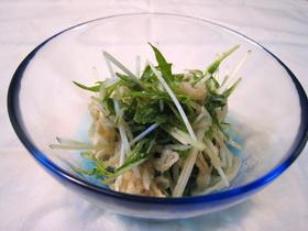 水菜と切干大根のナムル