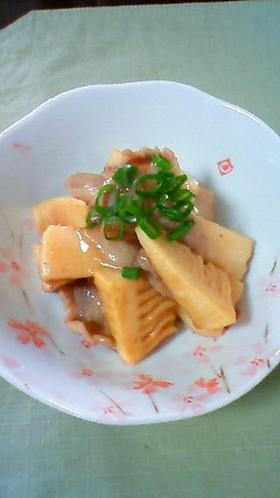 旨い!たけのこと豚バラのニンニク味噌炒め