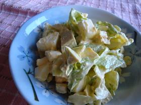 アボカドと卵のわさマヨサラダ
