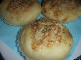 炊飯器で発酵パン(ツナオニオン)