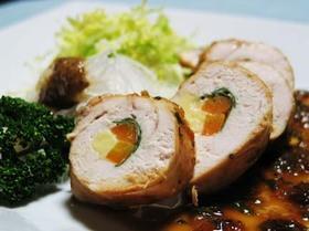 鶏むね肉のお野菜チーズまきまき