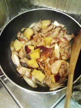 豚肉とさつまいもの、甘酢和え