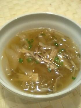 オニグラ風!新タマネギの味噌スープ