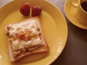 ●週末のツナトースト・粒マスタードin
