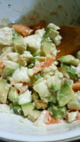 アボカドと豆腐のトマトサラダ