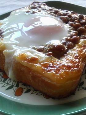 納豆玉子トースト
