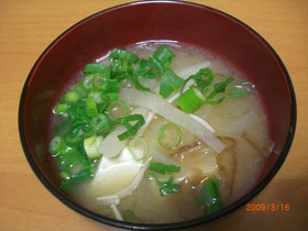 いっぱい食べれる☆千切り大根の味噌汁