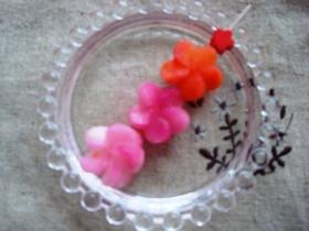 お弁当に☆ピンクのお花