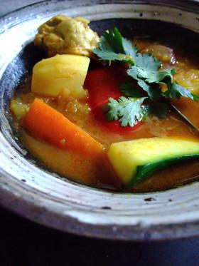 【野菜たっぷり】新たまねぎのスープカレー