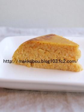 米粉の人参豆乳蒸しパン(炊飯器使用)