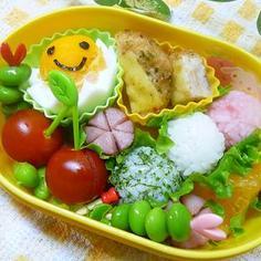 春のお弁当に♪3色お団子おにぎり☆