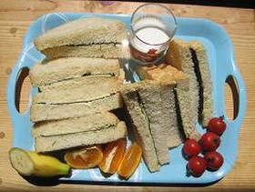韓国のり&チーズのサンドイッチ