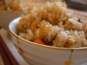 叉焼の炊き込みご飯