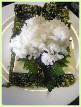 韓国海苔の大好き海苔巻き