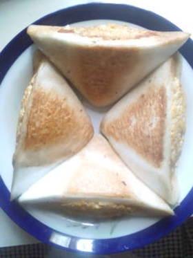 はんぺんの炒り卵たらこ和えチーズ詰め