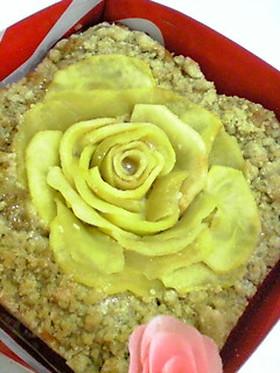 薔薇のクランブルケーキ☆サラダ油使用