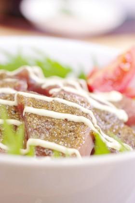 ★ピリッと味噌の鰹漬け丼★
