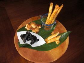 えびと煮大豆のさくさくコラボ(三種の味)