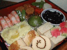 2003年我が家のおせち料理(お年寄りにやさしい編)