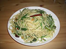 しゃきしゃき水菜のぺペロンチーノ