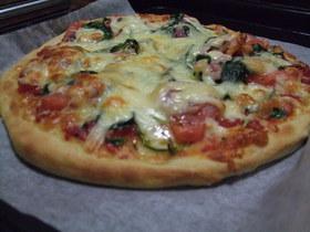 簡単!小麦胚芽のふんわりピザ
