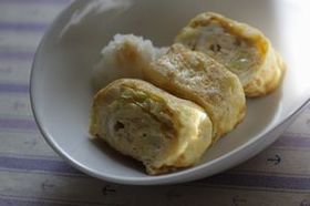 お弁当にも❤甘いキャベツの卵焼き