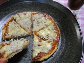 大豆でヘルシーピザ