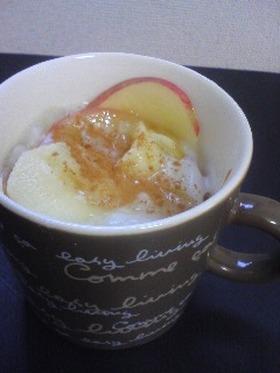 りんごとミルクの葛餅風