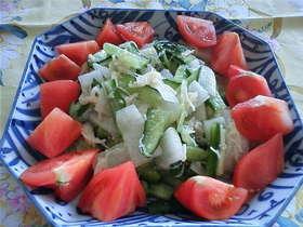 ホタテの缶詰で大根&きゅうりのサラダ