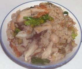舞茸&ブナピー&白す&竹輪の炊き込みご飯