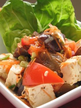 ナスとトマトの豆腐サラダ