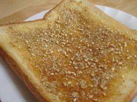 ピーナッツバターのような胡麻トースト
