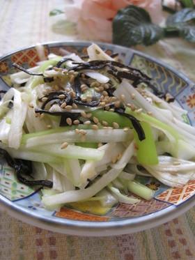 ヘルシー♡白葱と塩昆布のサラダ