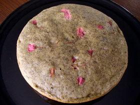 炊飯器 de 桜の蒸しケーキ