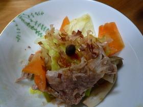 春キャベツと豚肉の簡単鍋蒸し