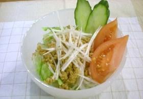 白滝と豆腐のヘルシーサラダ