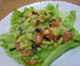 ほんのり柚風味な野菜ゴロゴロサラダ