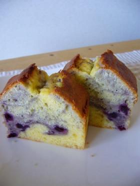 チーズとブルーベリーのマーブルケーキ