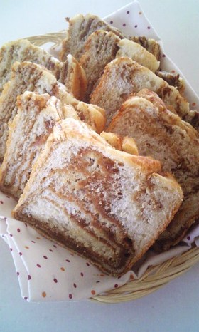 コーヒー✿シートで✿マーブル✿食パン