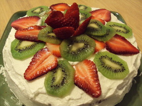 ホットケーキミックスで作るフルーツケーキ