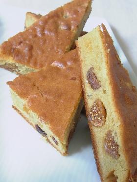 米粉とドライフルーツのスクエアケーキ