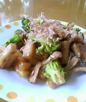 高野豆腐のオイマヨ炒め